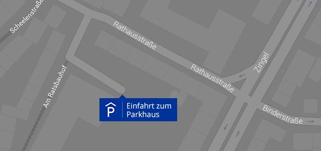 Parkmöglichkeiten in der Parkgarage Ratsbauhof